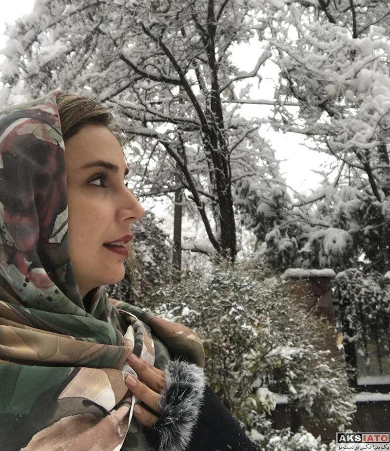 بازیگران بازیگران زن ایرانی  شبنم قلی خانی در روز برفی بهمن ماه 96 (2 عکس)