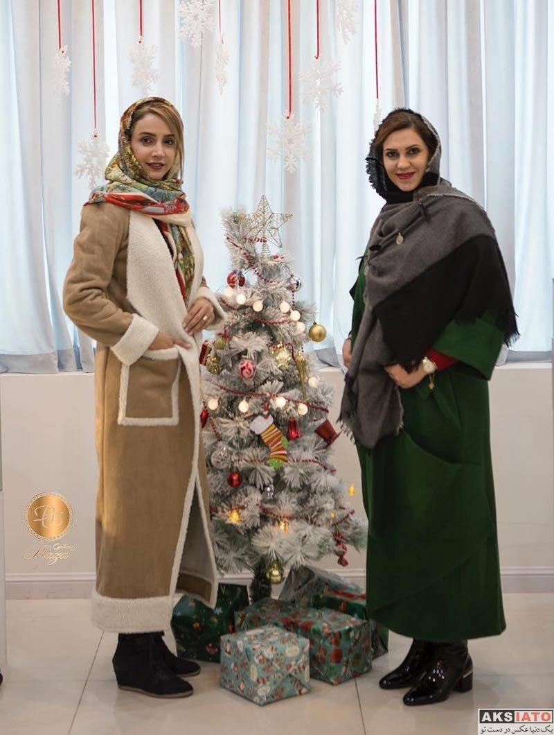 بازیگران بازیگران زن ایرانی  شبنم قلی خانی و پرستو صالحی در گالری لباس پلازا (4 عکس)