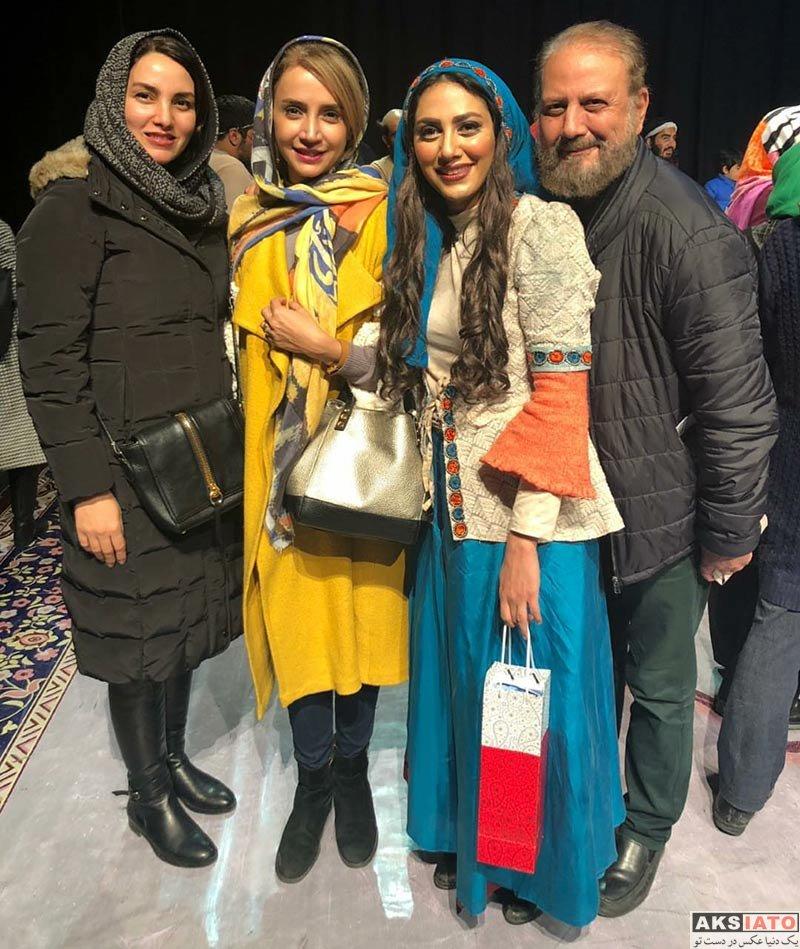 بازیگران بازیگران زن ایرانی  شبنم قلی خانی در اجرای نمایش شیرهای خان بابا سلطنه (2 عکس)