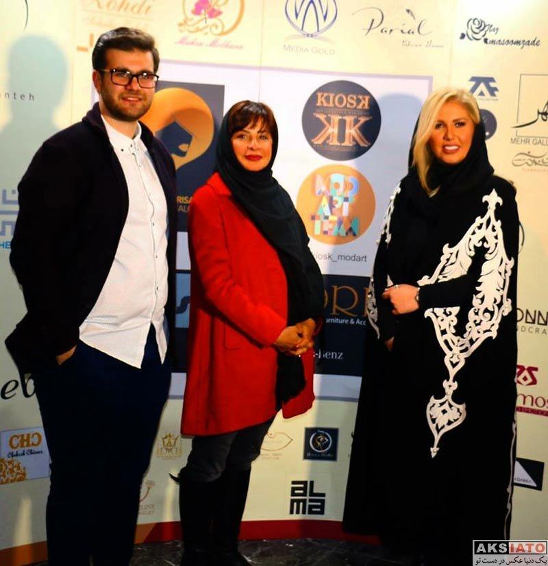 بازیگران بازیگران زن ایرانی  سیما تیرانداز در رویداد طراحان برتر لباس (2 عکس)