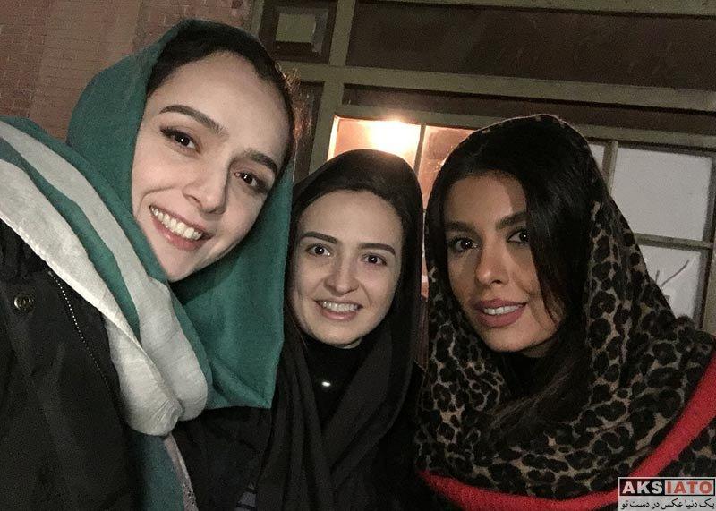بازیگران بازیگران زن ایرانی  ترانه علیدوستی و گلاره عباسی در سر صحنه شهرزاد 3 (2 عکس)