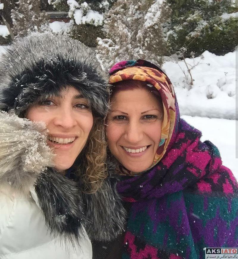 بازیگران بازیگران زن ایرانی  ویشکا آسایش در روز برفی تهران در بهمن ماه ۹۶ (2 عکس)
