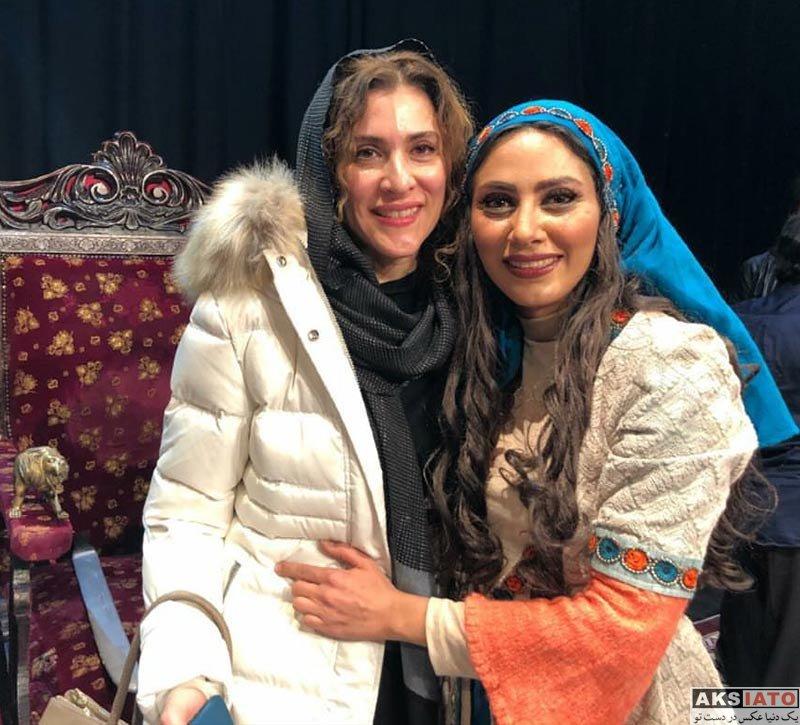 بازیگران بازیگران زن ایرانی  ویشکا آسایش و هنگامه قاضیانی در اجرای نمایش شیرهای خان بابا سلطنه