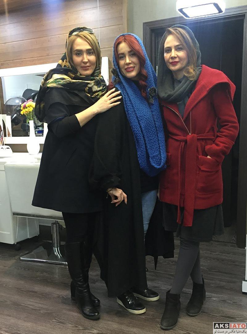 بازیگران بازیگران زن ایرانی  زهره فکورصبور و گلشید بحرایی در سالن زیبایی هلیا (4 عکس)
