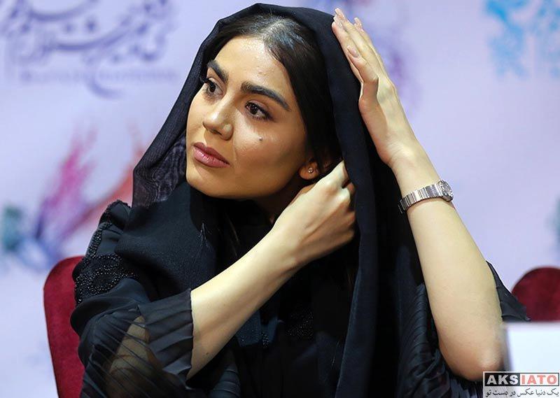 بازیگران جشنواره فیلم فجر  آزاده زارعی در روز هفتم جشنواره فیلم فجر ۳۶ (10 عکس)