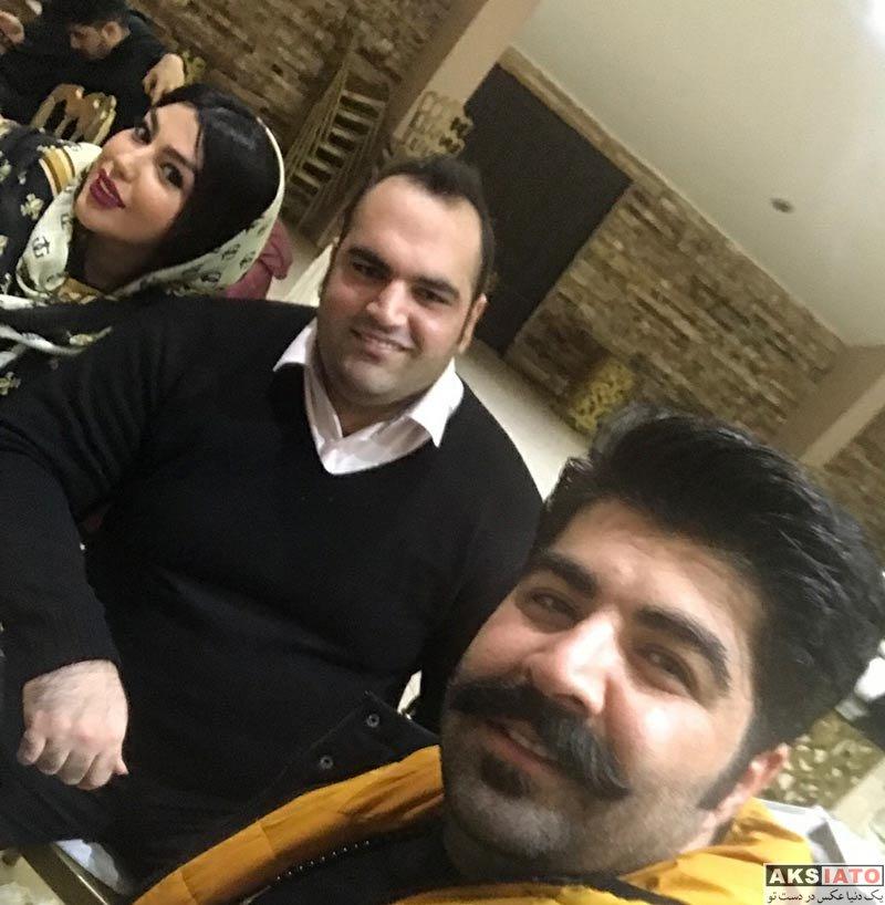 خانوادگی  سلفی بهداد سلیمی و همسرش با بهنام بانی (2 عکس)