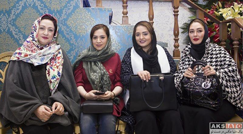 بازیگران بازیگران زن ایرانی  الهام حمیدی در افتتاح گالری نقره آرش (۴ عکس)
