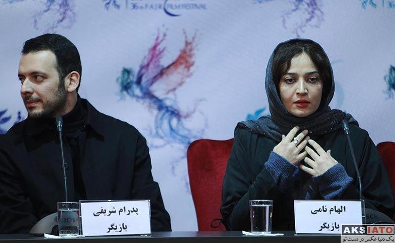 بازیگران جشنواره فیلم فجر  الهام نامی در روز آخر جشنواره فیلم فجر ۳۶ (6 عکس)
