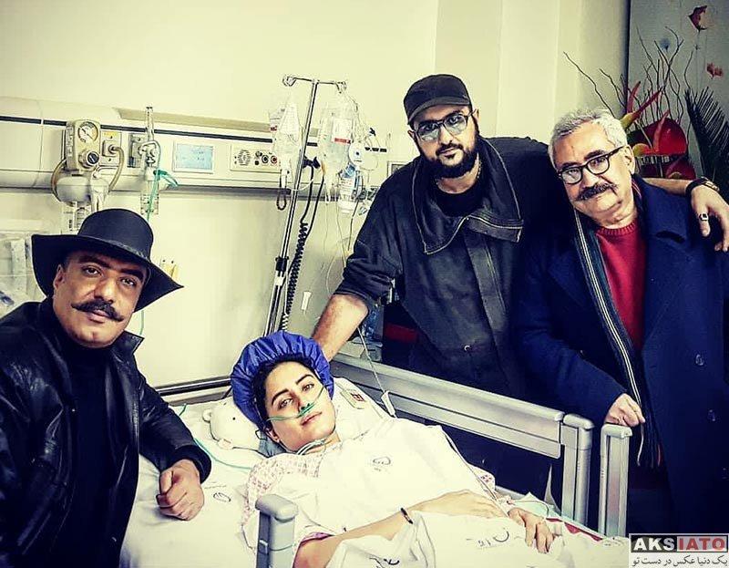 بازیگران بازیگران زن ایرانی  عیادت هنرمندان از الناز شاکردوست در بیمارستان (10 عکس)