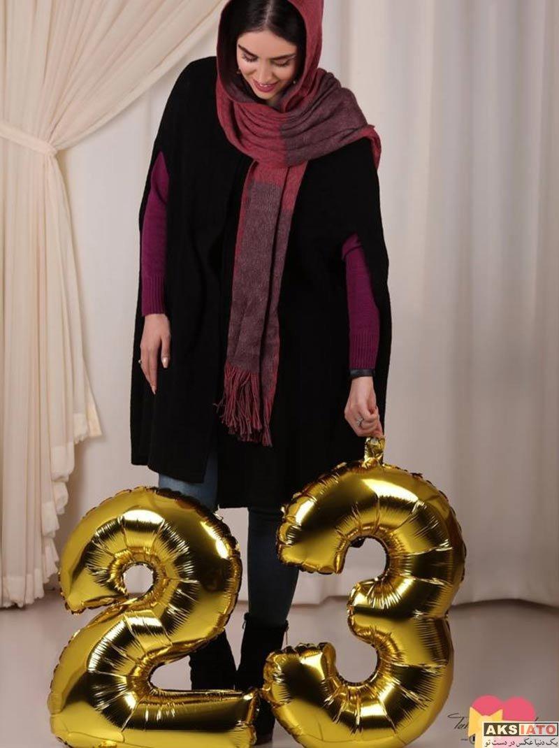 بازیگران بازیگران زن ایرانی  عکس های هانیه غلامی در بهمن ماه ۹۶ (8 تصویر)