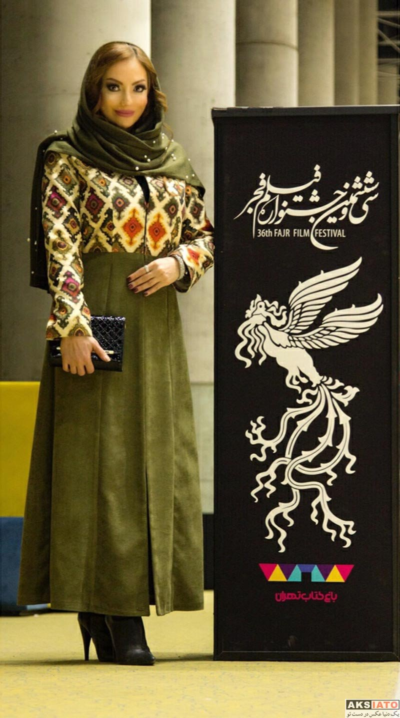 بازیگران جشنواره فیلم فجر  خورشید سعیدی روز هشتم در جشنواره فیلم فجر ۳۶ (۴ عکس)