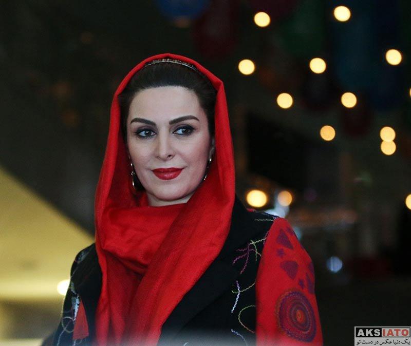 بازیگران جشنواره فیلم فجر  ماه چهره خلیلی در سی و ششمین جشنواره فیلم فجر (4 عکس)