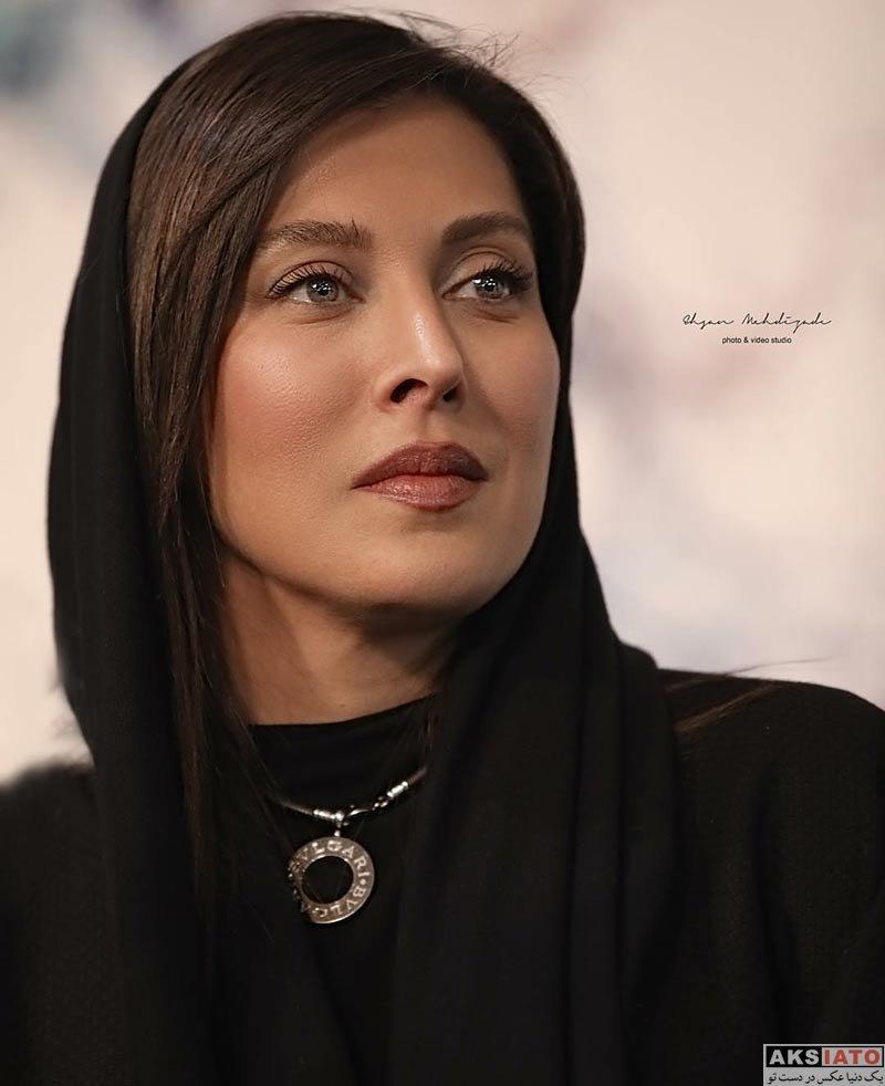 بازیگران جشنواره فیلم فجر  مهتاب کرامتی در اکران و نشست خبری فیلم جاده قدیم (8 عکس)