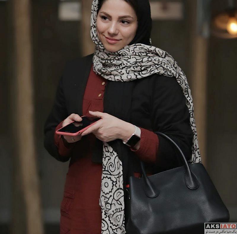 بازیگران جشنواره فیلم فجر  محیا اسناوندی در ششمین روز جشنواره فیلم فجر 36 (۳ عکس)