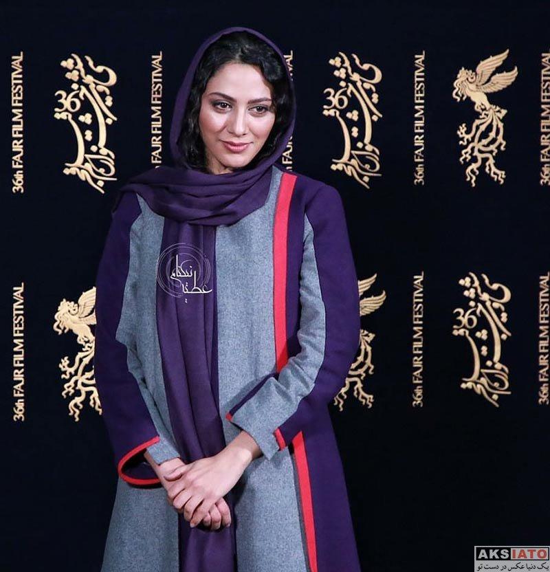 بازیگران جشنواره فیلم فجر  مونا فرجاد در روز هفتم جشنواره فیلم فجر ۳۶ (7 عکس)
