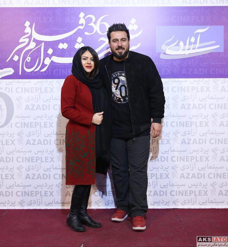 بازیگران جشنواره فیلم فجر  محسن کیایی و همسرش در هشتمین روز جشنواره فیلم فجر ۳۶ (2 عکس)