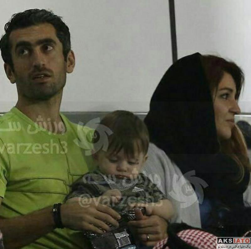 خانوادگی  مجتبی جباری به همراه همسرش در قطر (2 عکس)