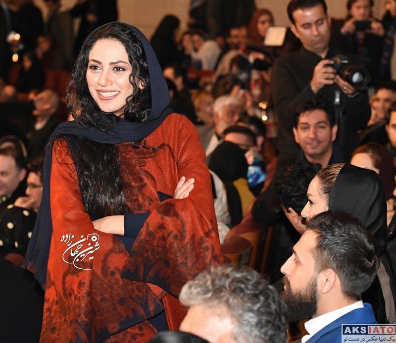 جشنواره فیلم فجر  مونا فرجاد در افتتاحیه سی و ششمین جشنواره فیلم فجر (4 عکس)