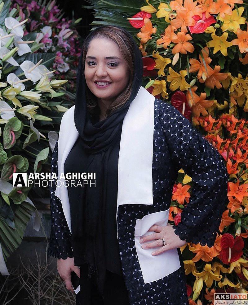 بازیگران بازیگران زن ایرانی  نرگس محمدی در افتتاح گالری نقره آرش (۴ عکس)