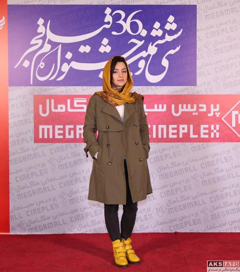 بازیگران جشنواره فیلم فجر  نازنین بیاتی در سومین روز جشنواره فیلم فجر 36 (4 عکس)