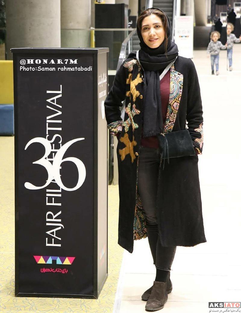 بازیگران جشنواره فیلم فجر  نیکی مظفری در روز دوم جشنواره فیلم فجر ۳۶ (۲ عکس)