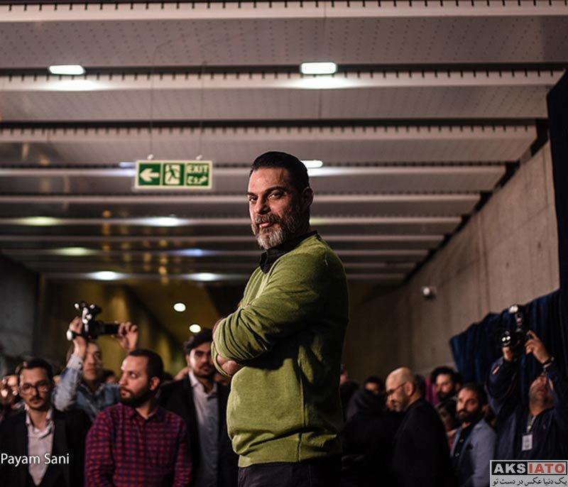 بازیگران جشنواره فیلم فجر  پیمان معادی در نشست خبری فیلم بمب، یک عاشقانه (۴ عکس)