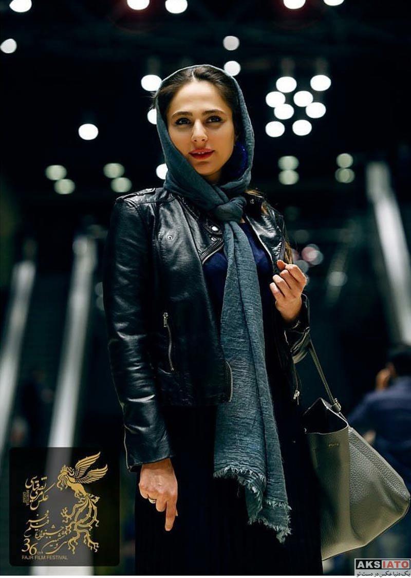 بازیگران جشنواره فیلم فجر  رعنا آزادی ور در روز نهم جشنواره فیلم فجر 36 (3 عکس)
