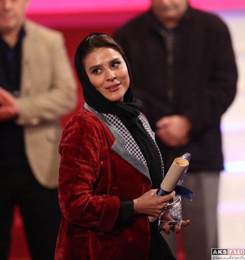 بازیگران جشنواره فیلم فجر  سحر دولتشاهی در اختتامیه سی و ششمین جشنواره فیلم فجر (12 عکس)
