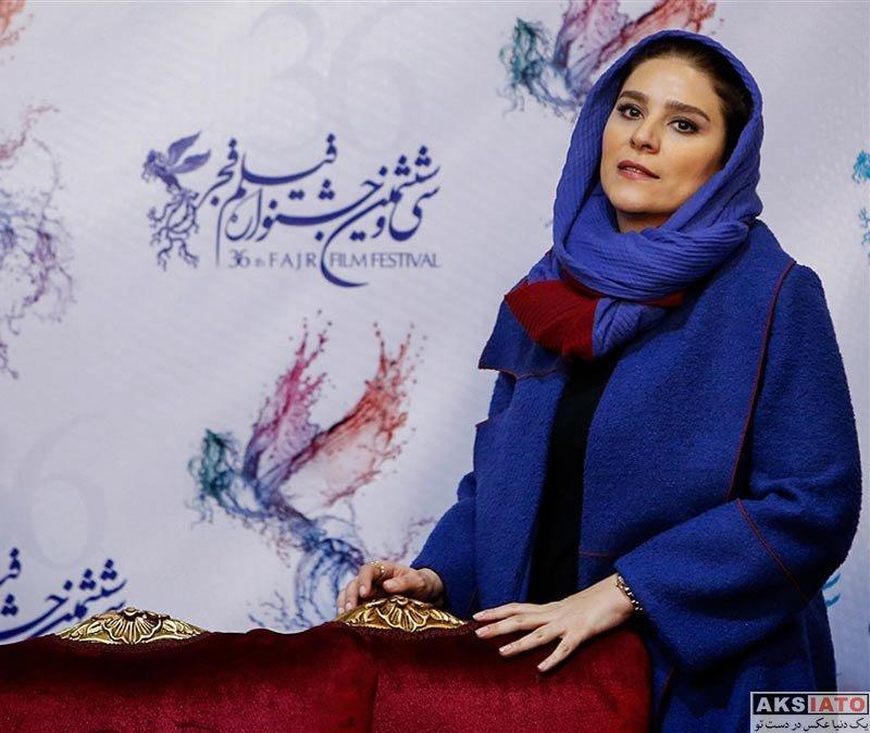 بازیگران جشنواره فیلم فجر  سحر دولتشاهی در نشست خبری فیلم امیر در جشنواره فجر (8 عکس)