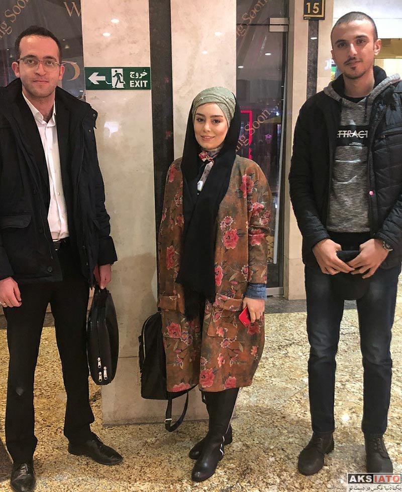 بازیگران بازیگران زن ایرانی  سحر قریشی در مراسم رونمایی از مجموعه سیزده شمالی (۶ عکس)