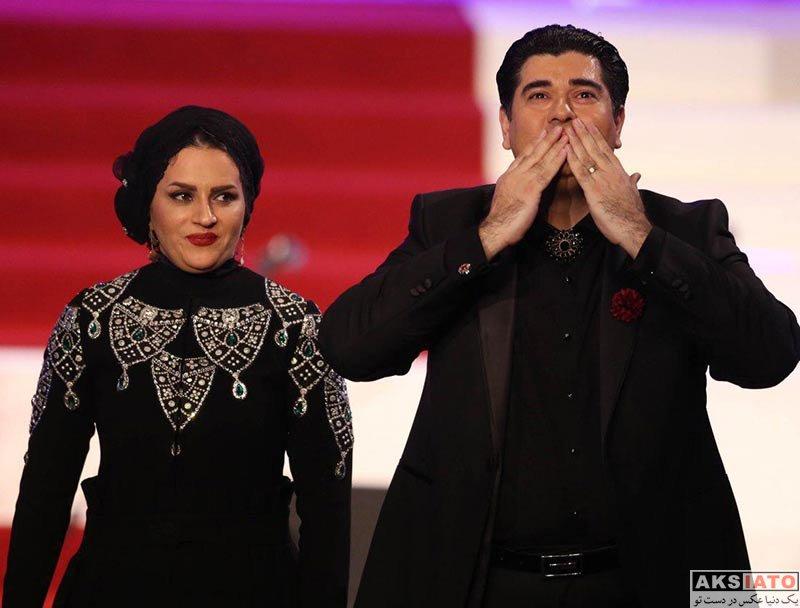بازیگران جشنواره فیلم فجر  سالار عقیلی و همسرش در اختتامیه سی و ششمین جشنواره فیلم فجر
