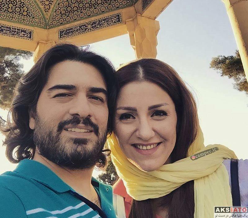 خانوادگی  سامان احتشام و همسرش راز (3 عکس)