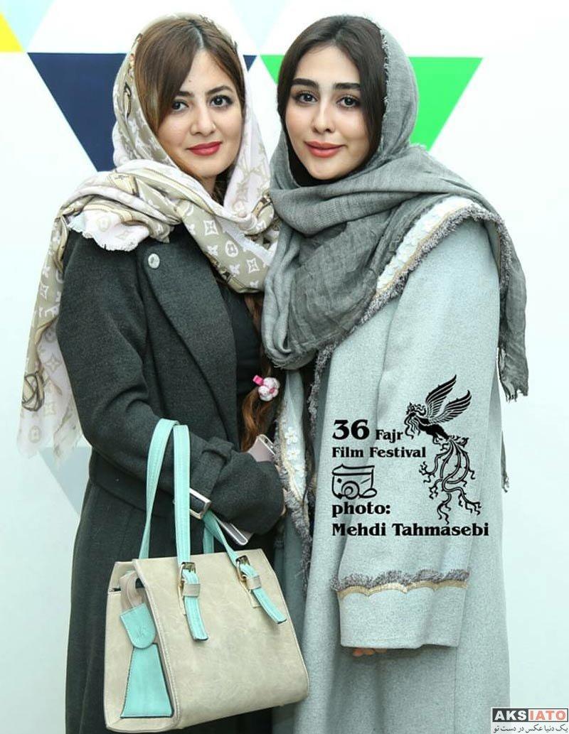 بازیگران جشنواره فیلم فجر  ستاره حسینی و خواهرش در جشنواره فیلم فجر ۳۶ (۴ عکس)