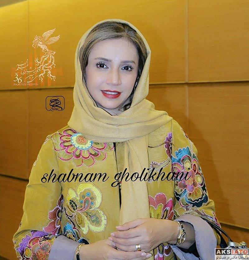 بازیگران جشنواره فیلم فجر  شبنم قلی خانی در افتتاحیه سی و ششمین جشنواره فیلم فجر (2 عکس)