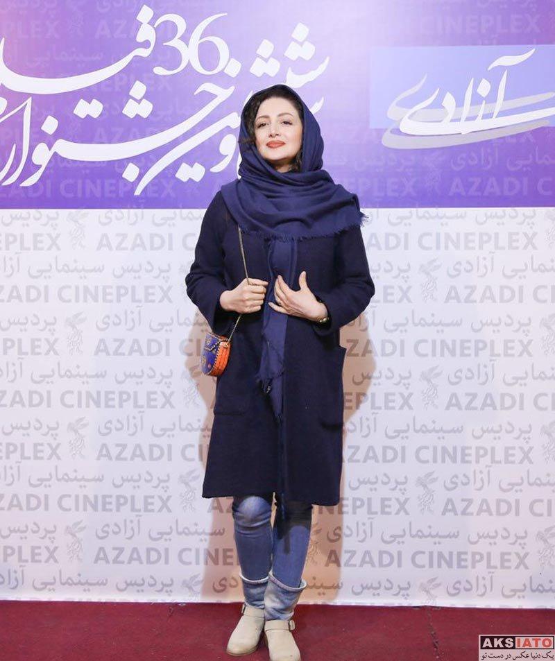 بازیگران جشنواره فیلم فجر  شیلا خداداد و همسرش در جشنواره فیلم فجر 96 (5 عکس)