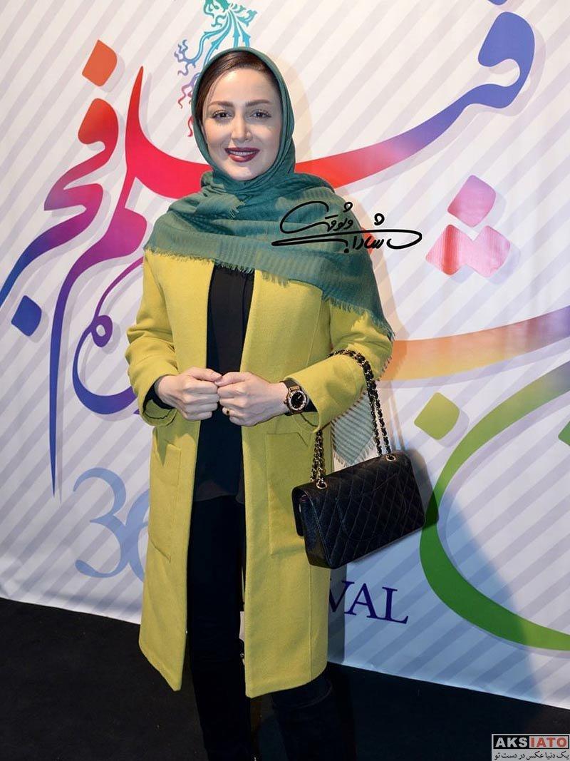 بازیگران جشنواره فیلم فجر  شیلا خداداد در پنجمین روز 36مین جشنواره فیلم فجر (2 عکس)