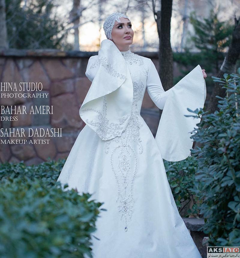 بازیگران عکس آتلیه و استودیو  عکس های مدلینگ زهره فکور صبور با لباس عروس (4 تصویر)