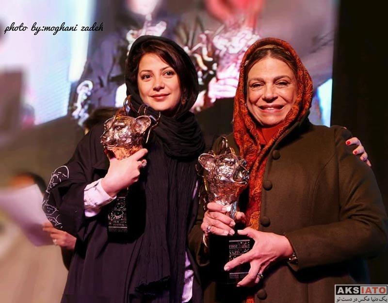 بازیگران بازیگران زن ایرانی  گوهر خیراندیش و دخترش در جشنواره فیلم یزد (4 عکس)