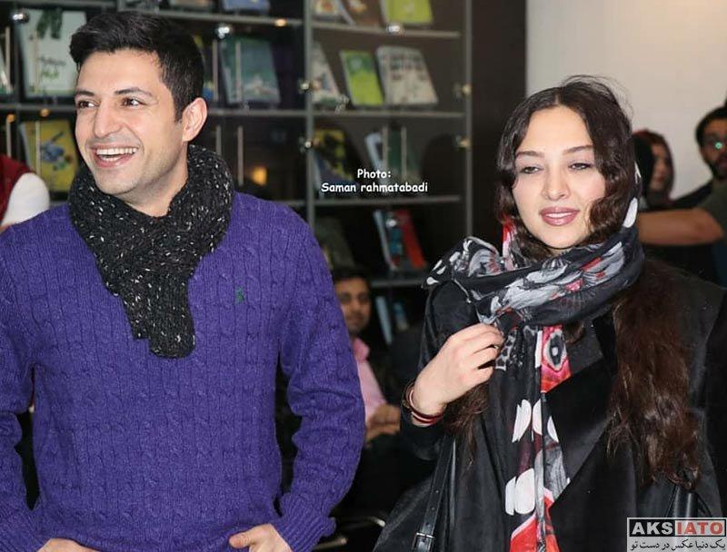 بازیگران بازیگران زن ایرانی  اشکان خطیبی و همسرش در اکران خصوصی فیلم لاتاری (5 عکس)