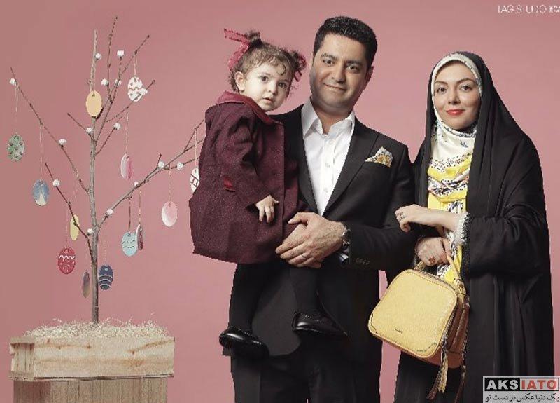 بازیگران مجریان  عکس های آزاده نامداری و همسر و دخترش ویژه نوروز 97