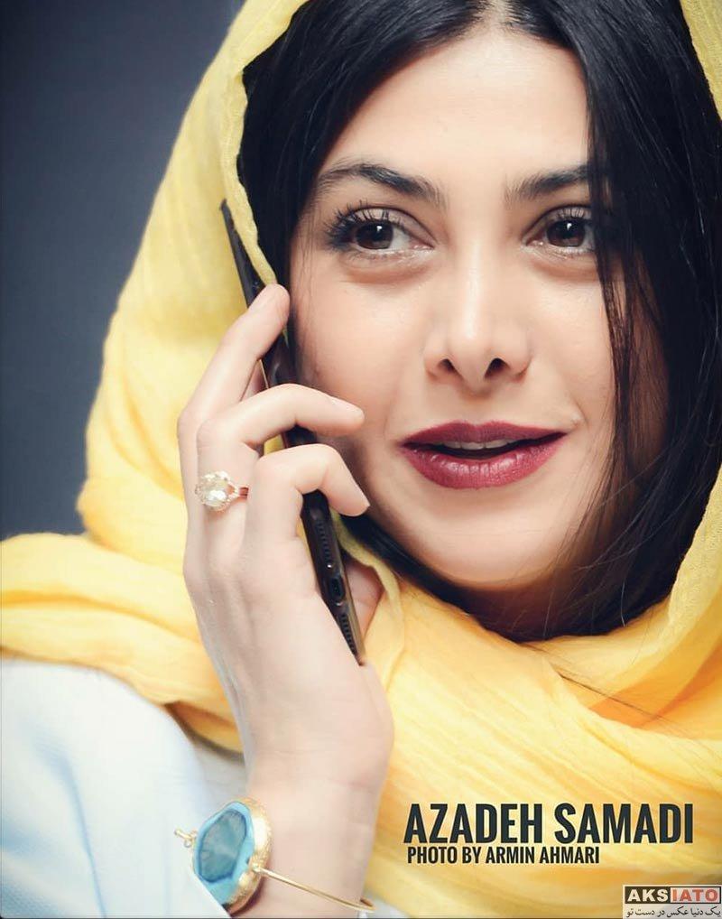 بازیگران بازیگران زن ایرانی  عکس های آزاده صمدی در اسفند ماه ۹۶ (8 تصویر)
