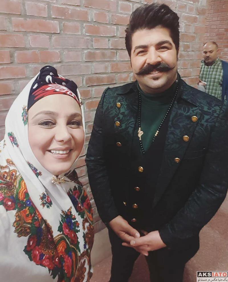 خوانندگان  عکس سلفی بهنام بانی با خانم بازیگر