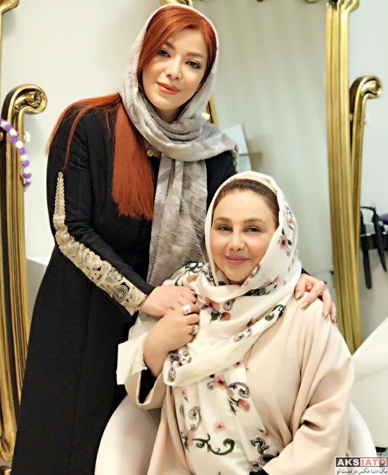 بازیگران بازیگران زن ایرانی  بهنوش بختیاری در سالن زیبایی آنوشا (4 عکس)