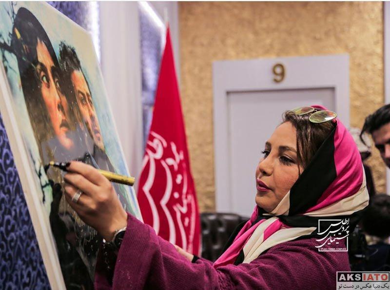 بازیگران بازیگران زن ایرانی  بهنوش بختیاری در اکران مردمی فیلم اسرافیل در مشهد (4 عکس)