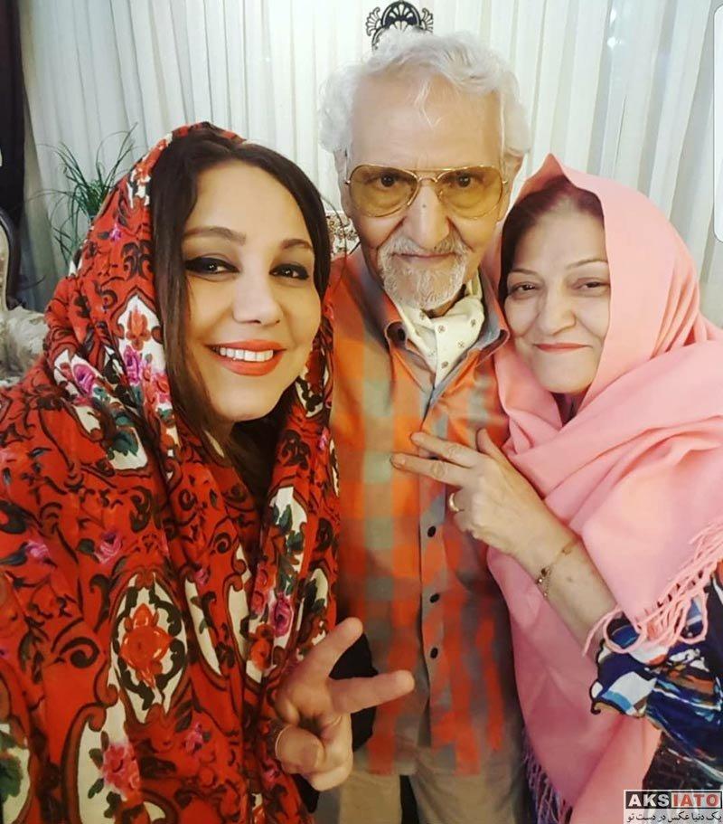 بازیگران بازیگران زن ایرانی  عکس های بهنوش بختیاری در کنار پدر و مادرش در نوروز 97