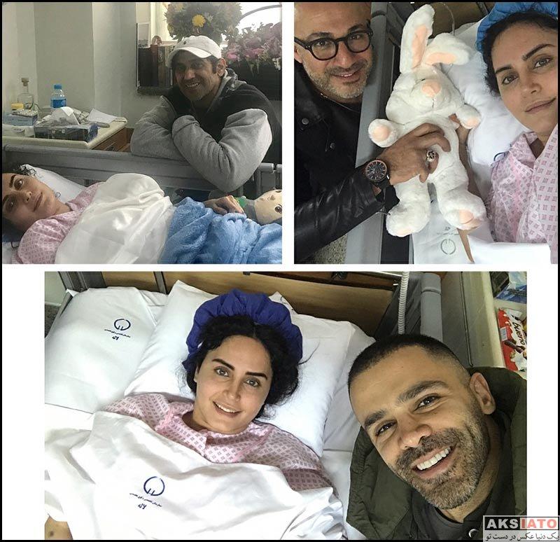 بازیگران بازیگران زن ایرانی  دیدار هنرمندان مطرح از الناز شاکردوست در بیمارستان (8 عکس)