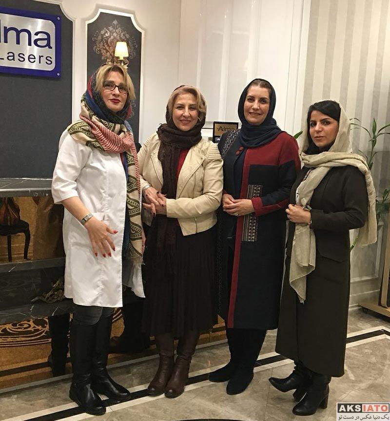 بازیگران بازیگران زن ایرانی  فریبا کوثری و مرجانه گلچین در کلینیک زیبایی (4 عکس)