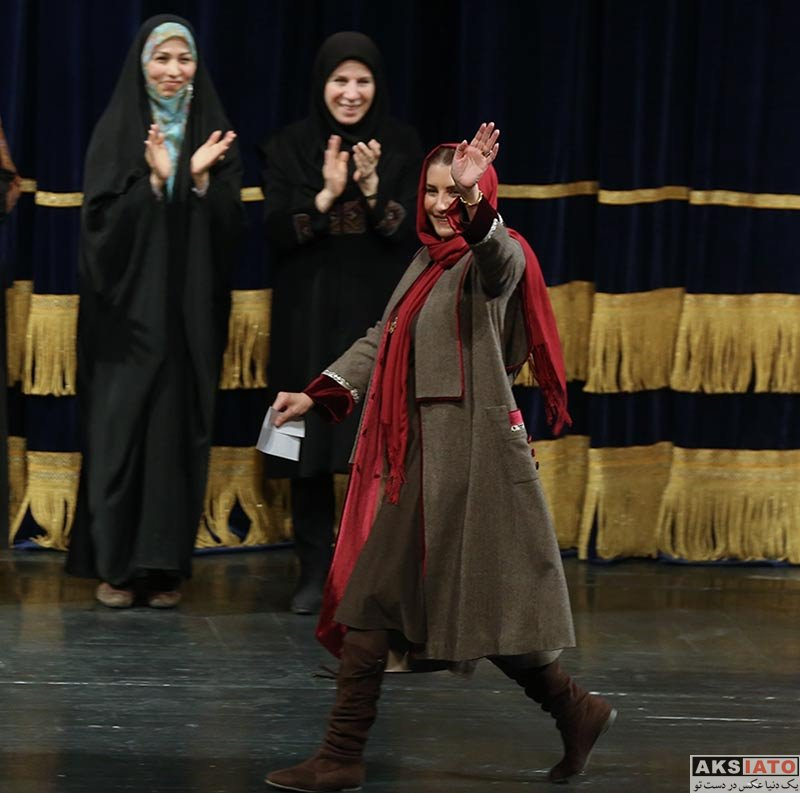 بازیگران بازیگران زن ایرانی  فریبا کوثری در اختتامیه جشنواره بین المللی مد و لباس فجر (۴ عکس)