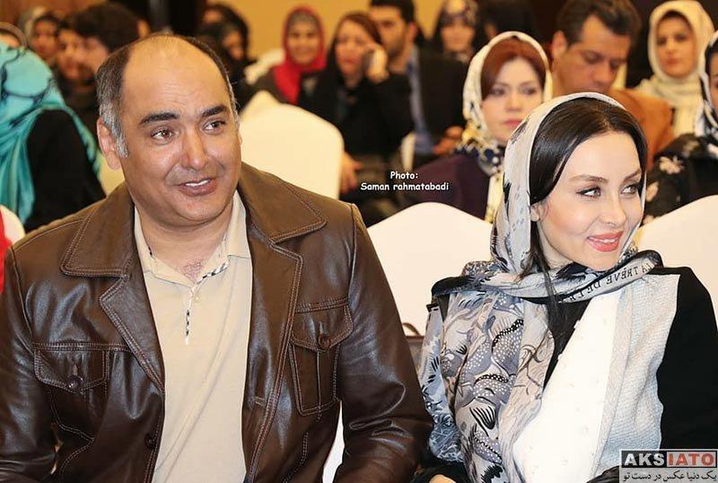 بازیگران  حدیث فولادوند و همسرش در مراسم بزرگداشت زن و مقام مادر (4 عکس)