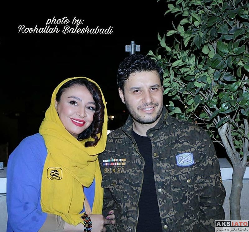 خانوادگی  جواد عزتی و همسرش در اکران فیلم آینه بغل در پردیس آزادی (4 عکس)